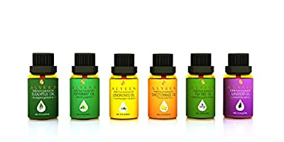 Essential Oils Gift Set By Alyees - 100% Pure Therapeutic Grade Sampler Pack - Best For Aromatherapy Massage Spa Home - Premium Quality Scented Oils - The Perfect Starter Kit Guaranteed - FREE Bonus E Book - Unlock The Power Of Natural Healing!