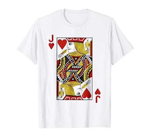 Jack of hearts Tshirt Blackjack Cards Poker 21 JTee shirt]()