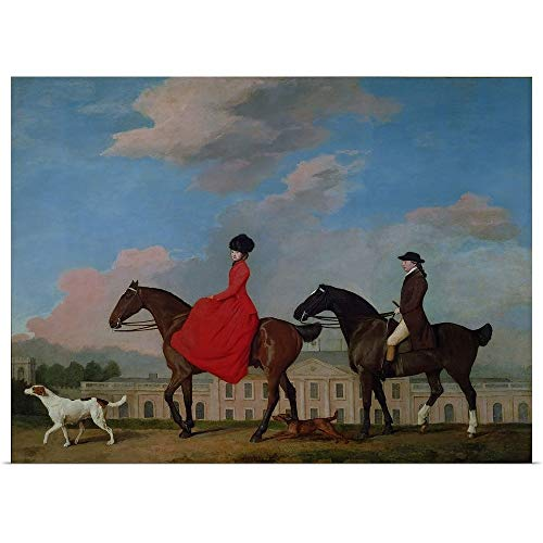GREATBIGCANVAS Poster Print Entitled John and Sophia Musters Riding at Colwick Hall, 1777 by George (1724-1806) Stubbs 40