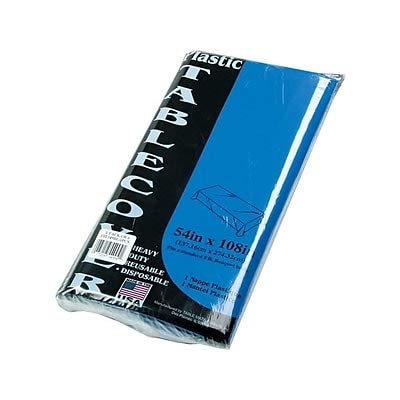 Table Mate 108 Inches W x 54 Inches D Table Covers Blue (TBL-549-BL) - 6/Pack (7 Pack)