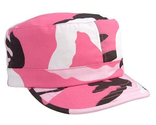Rothco Women's Adjustable Fatigue Cap, Pink Camo (Pink Camo Womens Vintage)