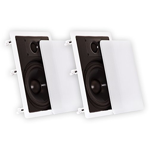 Theater Solutions CS8W in Wall 8″ Speakers Surround Sound Home Theater Pair