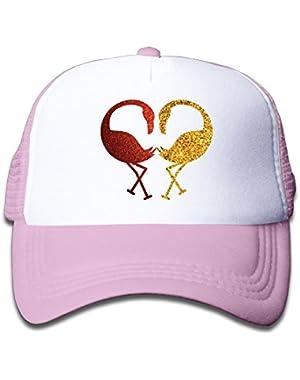 Glitter Flamingo Colortone Kids Baseball Cap Infant Trucker Hat
