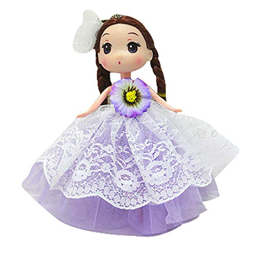 iZHH Fun Kawaii Flower Dress Cute Doll Pendant Cute Key Ring Perfect for Girls