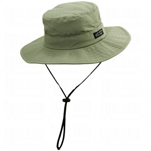 Dorfman Pacific Men s 1 Piece Big Brim Boonie Hat with Nylon Chin Cord 439a1df2bc3d