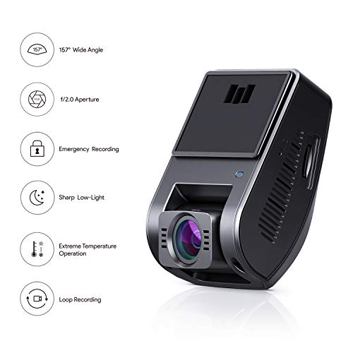AUKEY 4K Dash Cam 2880 x 2160P Car Camera with Supercapacitor and 6-Lane  Lens Dash Camera for Cars with HDR, Loop Recording, G-Sensor, Motion