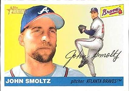 Amazoncom 2004 Topps Heritage 437 John Smoltz Braves Mlb