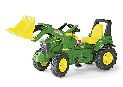 71 012 6 - Trettraktor 146 cm John Deere 7930 mit Luftbereifung + Lader + Schaltung und Bremse