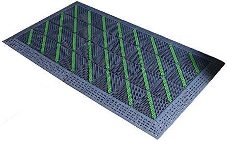 バルコニーカーペット 頑丈な屋外のスリーインワンマット、屋外のほこり除去スクレーパーフットパッドホテルモール入りドアホワイエ滑り止めカーペット、6色 (Color : D, Size : 60 X 120 cm)