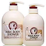 SOMANG MILK BODY SHOWER 750ml + BODY LOTION 500ml SET