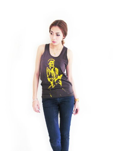 Bunny Brand Women's Bruce Springsteen Folk Rock Music Emo T-Shirt Tank Top (Large, Black)