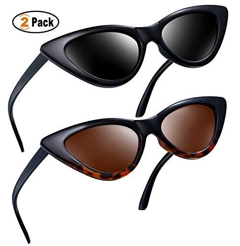 cbbe8b35b73 Joopin Vintage Polarized Cat Eye Sunglasses - Women Retro Cateye Sun  Glasses Pointy Sunglasses E8908