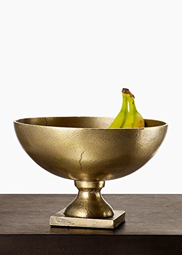 Pedestal Antique Brass (Serene Spaces Living Antique Brass Footed Bowl, Versatile Pedestal Bowl, Measures 6.75