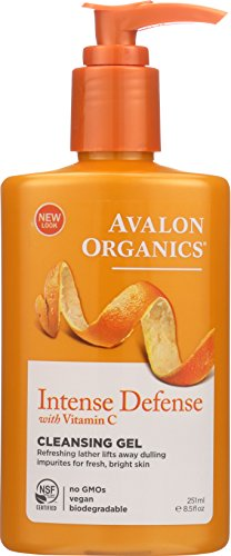 Avalon Organics Refreshing Cleansing Gel, Vitamin C, 8.5-Ounces (Pack of 3) by Avalon