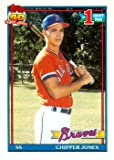 1991 Topps Chipper Jones Baseball Rookie Card In Protective Display Case