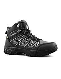 Rocky Moose Men's Outdoor Winter Adventure Mid-Top Lacing Up Waterproof Trekking Hiking Boots with Wool Insole - Trail