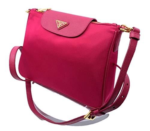 - Prada Women's Tessuto Saffiano Pink Ibisco Nylon Crossbody Bag Handbag 1BH933