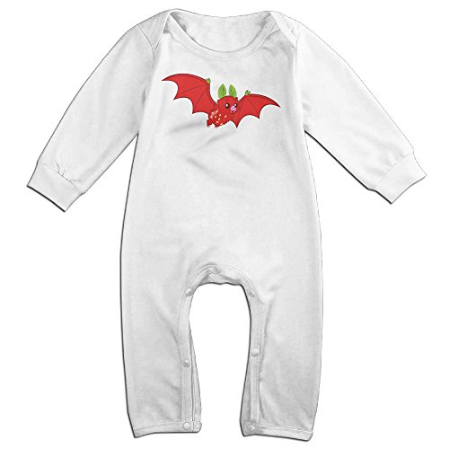 GMRLOVE Strawberry Long-Sleeve Romper Jumpsuit For 6-24 Months Toddler 18 Months White