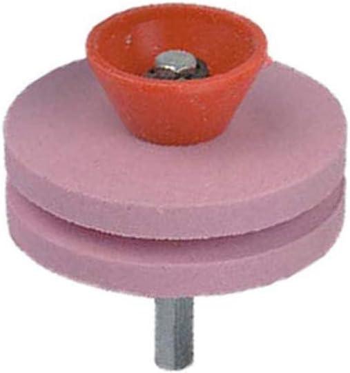 Stecto Afilador de Cuchilla de Cortacésped de 2/4 Capas, equilibradores de Cuchillas de cortacésped Multi-Afilado Afiladores de Cuchillas de cortacésped Piedra de la muela abrasiva, 5 x 5 cm
