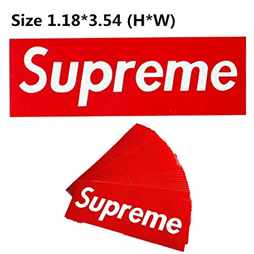 Supreme Stickers 100 Pieces Pack Waterproof and Oil Proof OEM Style for Decoration of Smart Phone, Laptop, Backpack Skateboarding, Cars, Laggages etc (Red, 100 pieces) by  (Image #4)