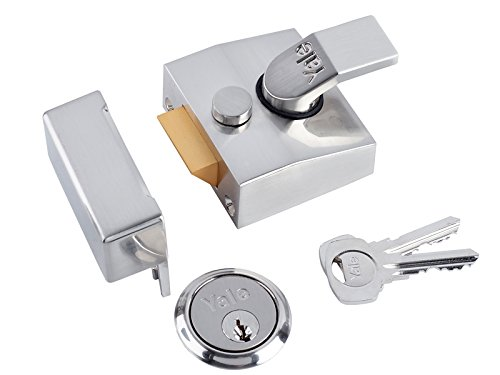 (Yale P-85-DMG-SC-40- Deadlocking Nightlatch - 40mm - Chrome Finish - High Security with Automatic Deadlock)