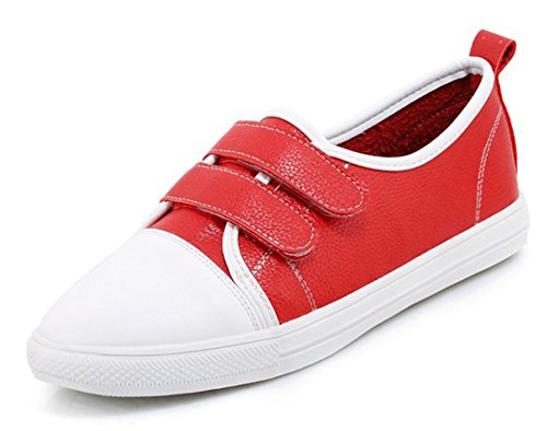 De Rouge Sneakers Aisun Femme Scratch Classique Chaussures Tennis wRffgq1I0