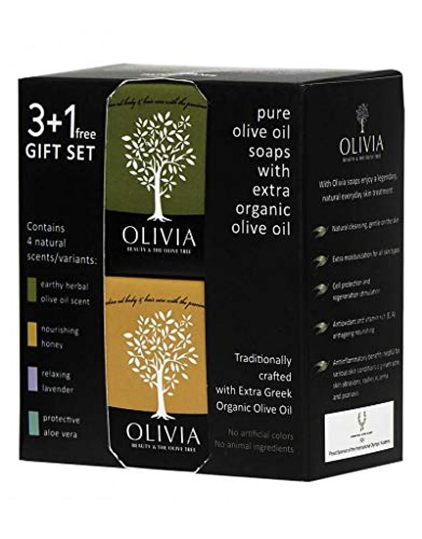 オセアニア行き当たりばったり豊かにするOlivia(オリビア) ナチュラルバーソープ 3+1フリーギフトセット