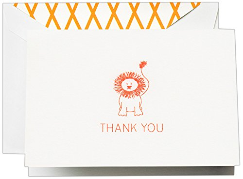 Crane & Co. Clementine Lion Thank You Note (CT1413)