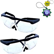 HQRP 2 pair UV Protective Safety Glasses for Yard work, Lawn mowing, Gardening, Weed whacking, Hedge trimming, Farming, Agriculture, Forestry + HQRP UV Meter