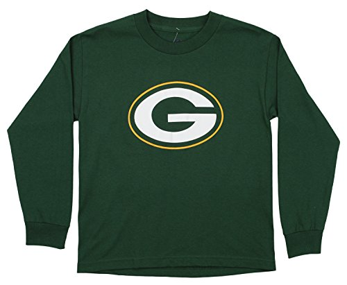 Logo Nfl Long Sleeve T-shirt - Outerstuff NFL Youth's Long Sleeve Team Logo Tee, Green Bay Packers Large (14-16)