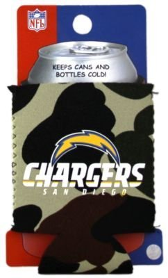 (SAN DIEGO CHARGERS CAMO CAN KADDY KOOZIE COOZIE COOLER)