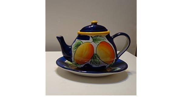 Amazon.com   TEAPOT ~ CALIFORNIA PANTRY CLASSIC & TRAY: Teapots