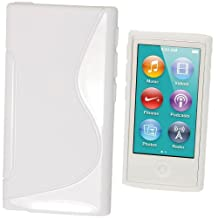 igadgitz Dual Tone White Durable Crystal Gel Skin (TPU) Case Cover for Apple iPod Nano 7th Generation 7G 16GB + Screen Protector