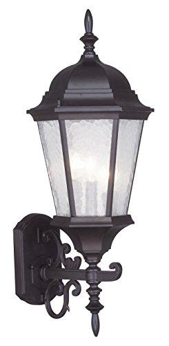 Livex Lighting 7561-07 Hamilton 3 Light Outdoor Wall Lantern, Bronze