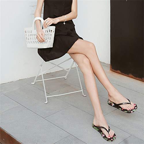 c Zapatos Con Moda Mujer Para Tirar Zapatillas Playa Abierta Verano De Goma Punta Y Sandalias Baño Ligeras Fáciles En Solapa qHRaWx