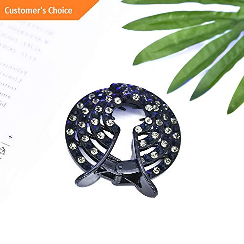 (Hebel Fashion Butterfly Claw Women Crystal Rhinestone Hair Clip Clamp Hairpin Jewelry | Model HRPN - 5514 |)