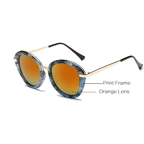 UVA soleil Lunettes C5 Femmes de 100 Bleu Femme Color Gafas Femme AT543 Zygeo UVB Casual Lunettes Elegant C2 Noir Sol Orange De Lunettes Blind Imprimer EBvOxfqwx