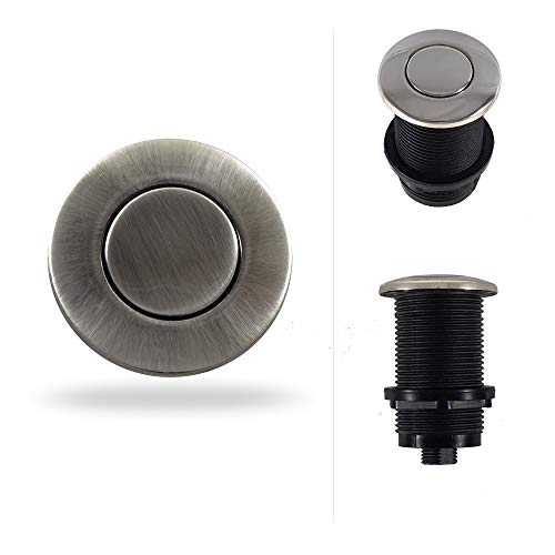 Garbage Disposal Sink Top Air Switch Button for Thicker and Standard Counter Tops. Available in 25+ Finishes Matching any Faucet. Universal Fit Unit. MODEL # ASBO (Standard 2-Inch, Pewter) by NORTHSTAR DECOR (Image #7)
