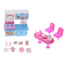 MagiDeal Dollhouse Miniature Kitchen Furniture Set Cooking Accessory for Barbie Dolls