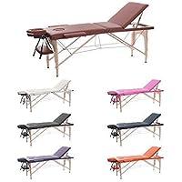 H-ROOT 3 Section Table de Massage Grande Canapé Lit Plinthe de Thérapie Salon Tatouage Reiki Massage Suédois Thérapeutique (186cm x 60cm x 62-83cm, Vin rouge) …