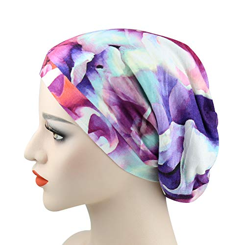 4ea6a401768 Galleon - Slouchy Striped Beanie Hat Comfortable Head Wrap Cap