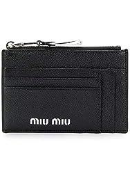 Miu Miu Women S 5mc4462b64f0002 Black Leather Wallet