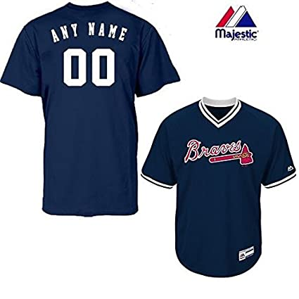 33ad747047d Adult Small Atlanta Braves CUSTOM (Any Name   on Back) Major League Baseball