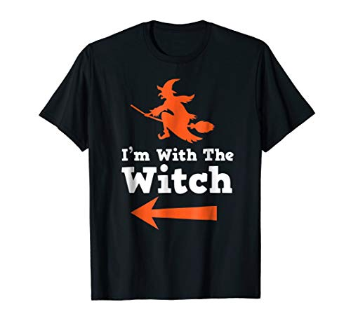 Halloween Outfit For Couple I'm With The Witch T Shirt