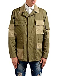 Men's Green Button Down Basic Jacket Size US L IT 52