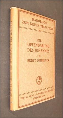 Book Die Offenbarung Des Johannes