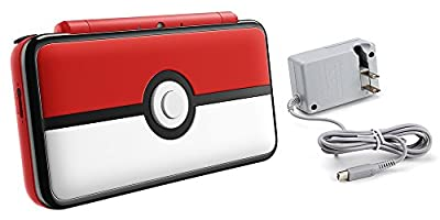 Nintendo 2DS XL Bundle (2 Items): Nintendo New 2DS XL - Poke Ball Edition and Tomee AC Adapter