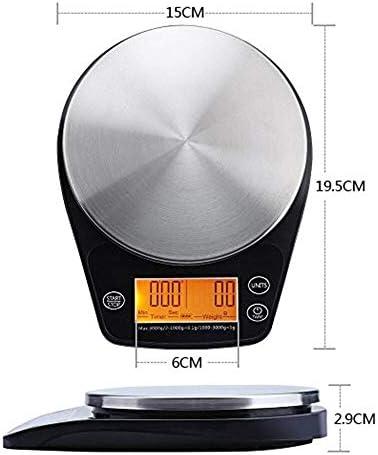 Bilancia digitale da cucina, mini bilancia digitale a goccia, con supporto per caffè e cucina, 0,1-3000 g