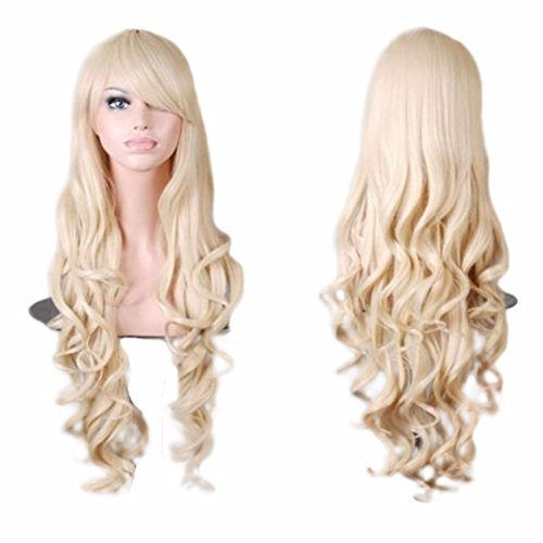 Fashion Charming Synthetic Fiber Long Wavy Hair Wig Womens Party Full Wig By Willsa