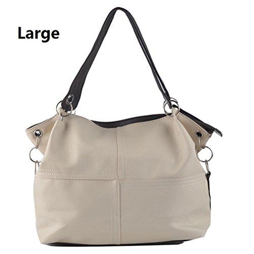Messenger PU Offer Vintage Grafting Leather Handbag Women Bags Large Shoulder Special Splice Crossbody Bag beige Women Bags qAP0F1W